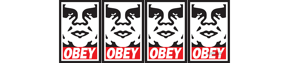 OBEY Controversial and influential, OBEY is one of the biggest streetwear brands in the world. Inspired by classic military designs, workwear basics and the cultural movements that graphic designer and illustrator Shepard Fairey's art career is based on, OBEY's range of t-shirts, sweatshirts, jackets and snapbacks have a cult-like following.