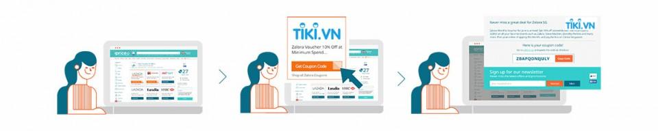 coupons Tiki tại iprice